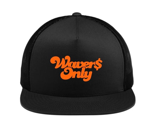 Waver$ Only Trucker Hat (Orange)