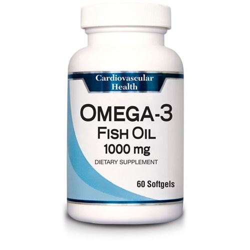 Omega 3 Fish Oil, 60 Count Bottle