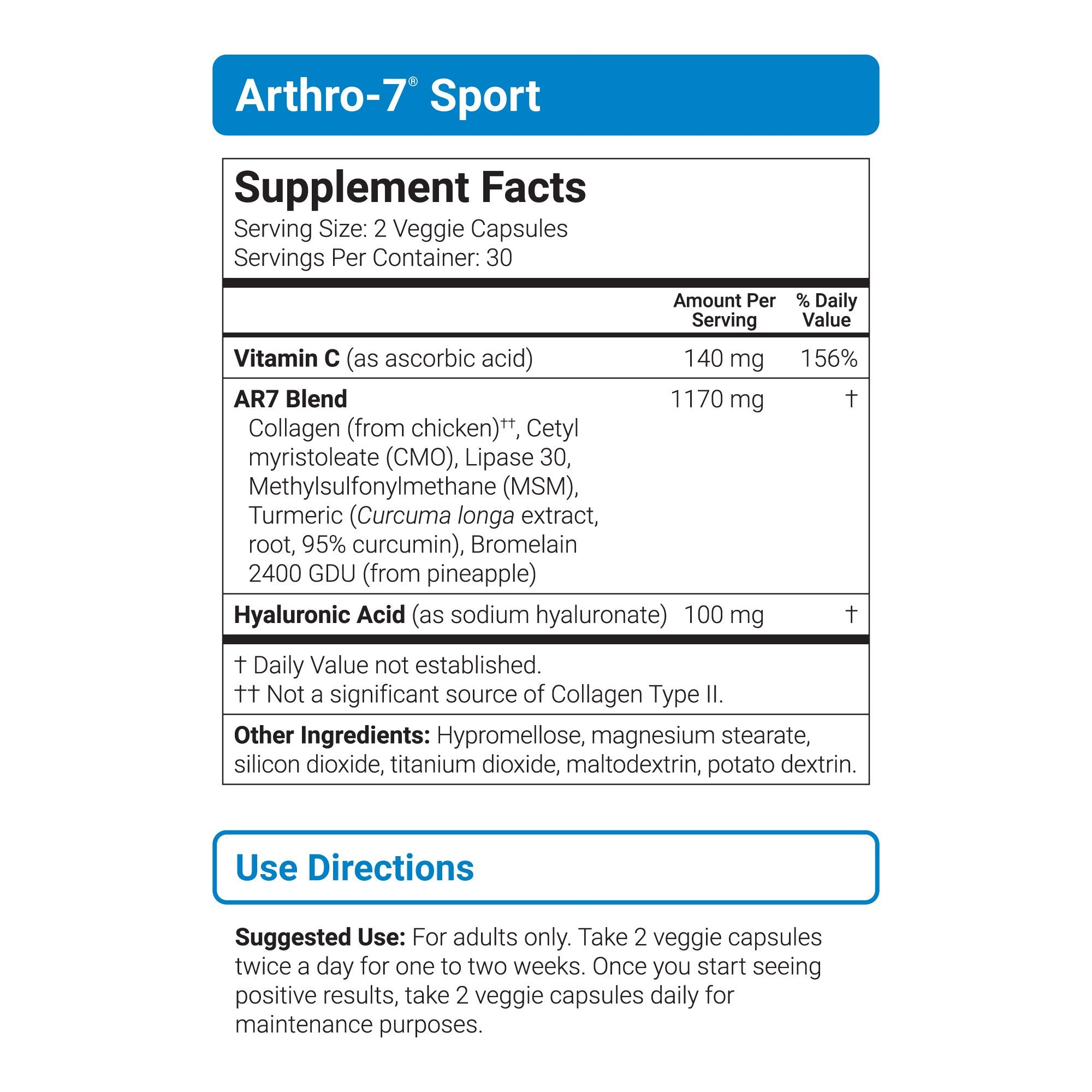 Arthro-7 Sport sup facts