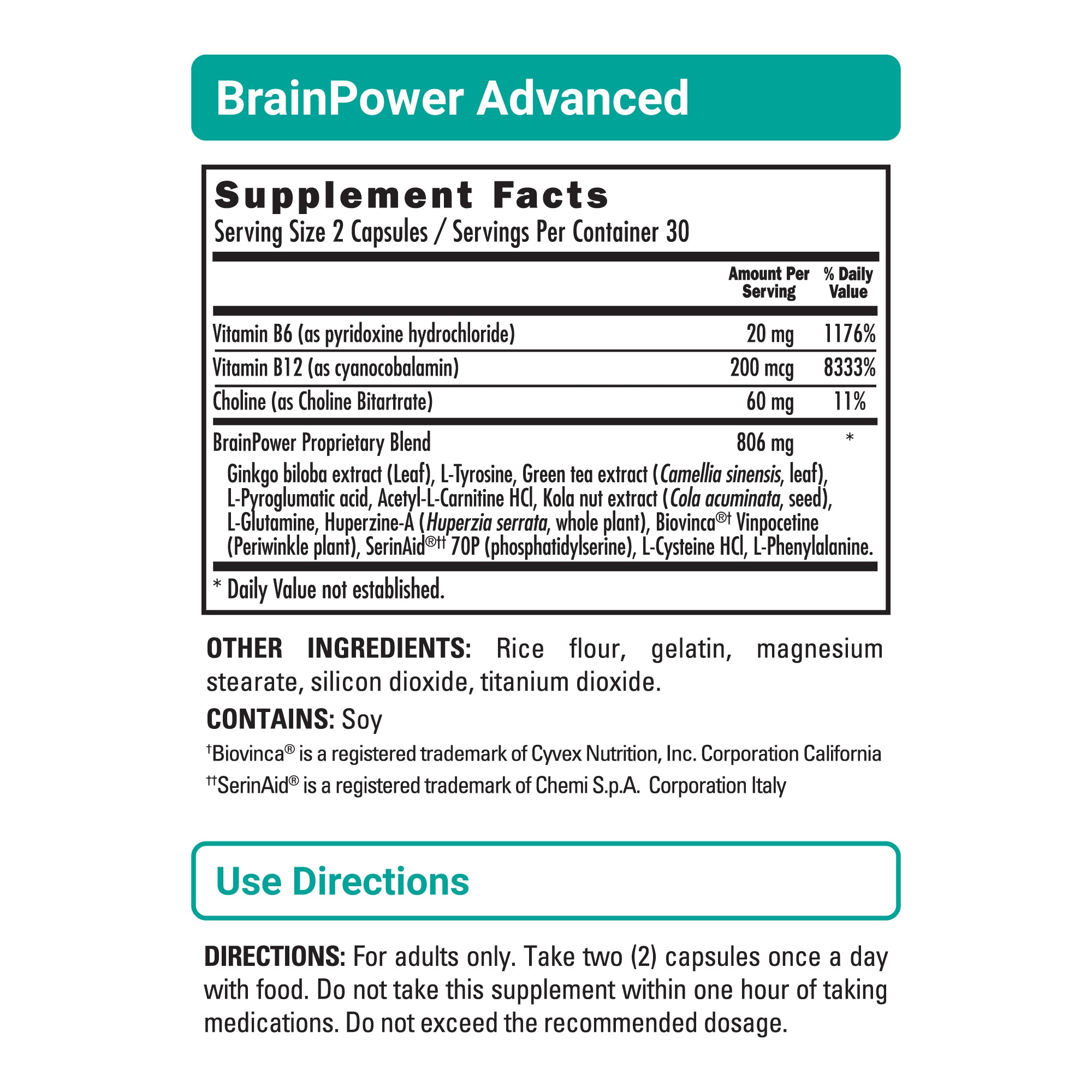 BrainPower Advanced sup facts