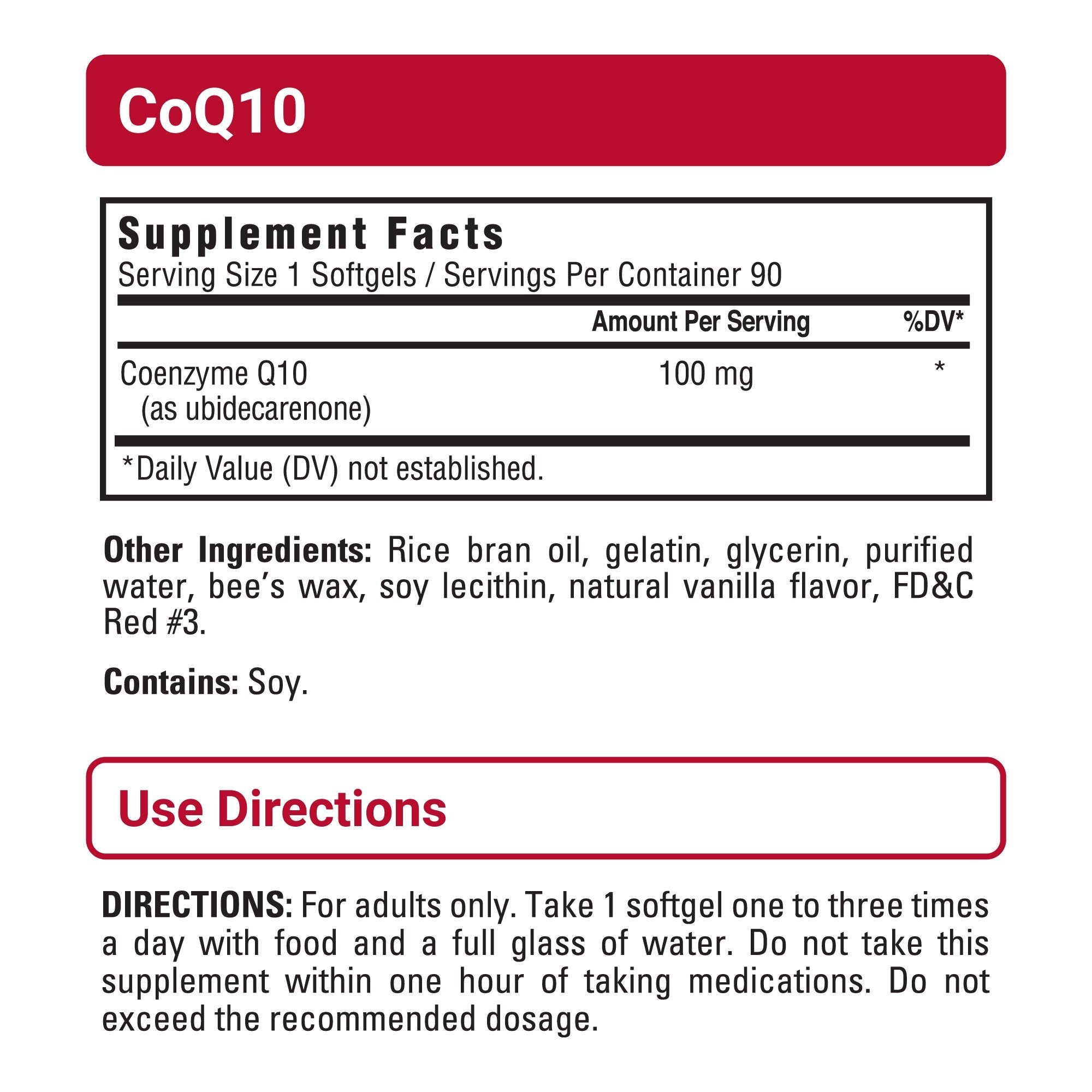CoQ10 sup facts