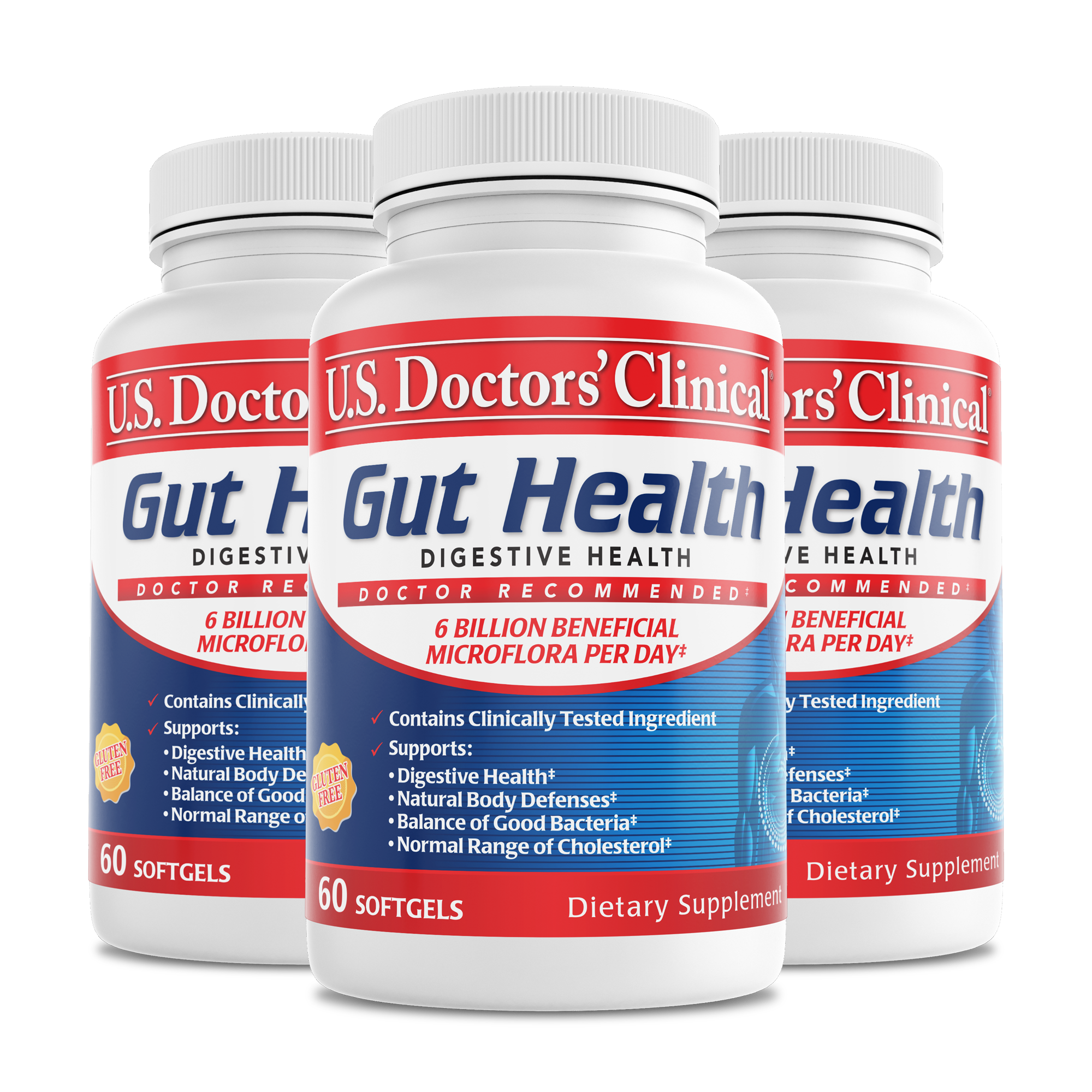 Gut Health - Clinically Tested Probiotics - 3 Pack