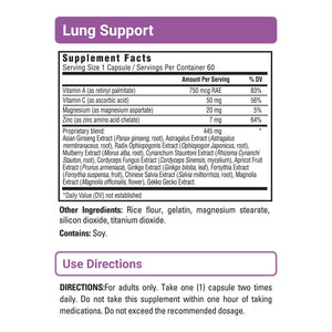 Lung Support sup facts