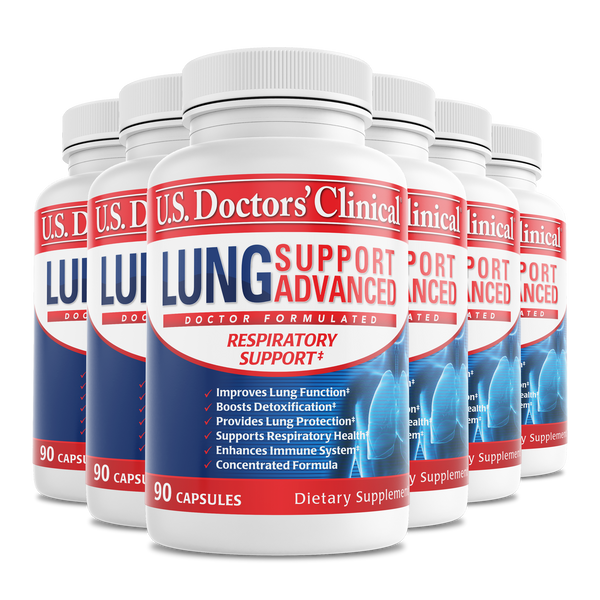 Lung Support Advanced - With BroccoPhane - 6 Pack