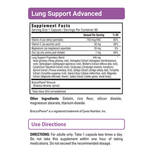 Lung Support Advanced - With BroccoPhane - 3 Pack