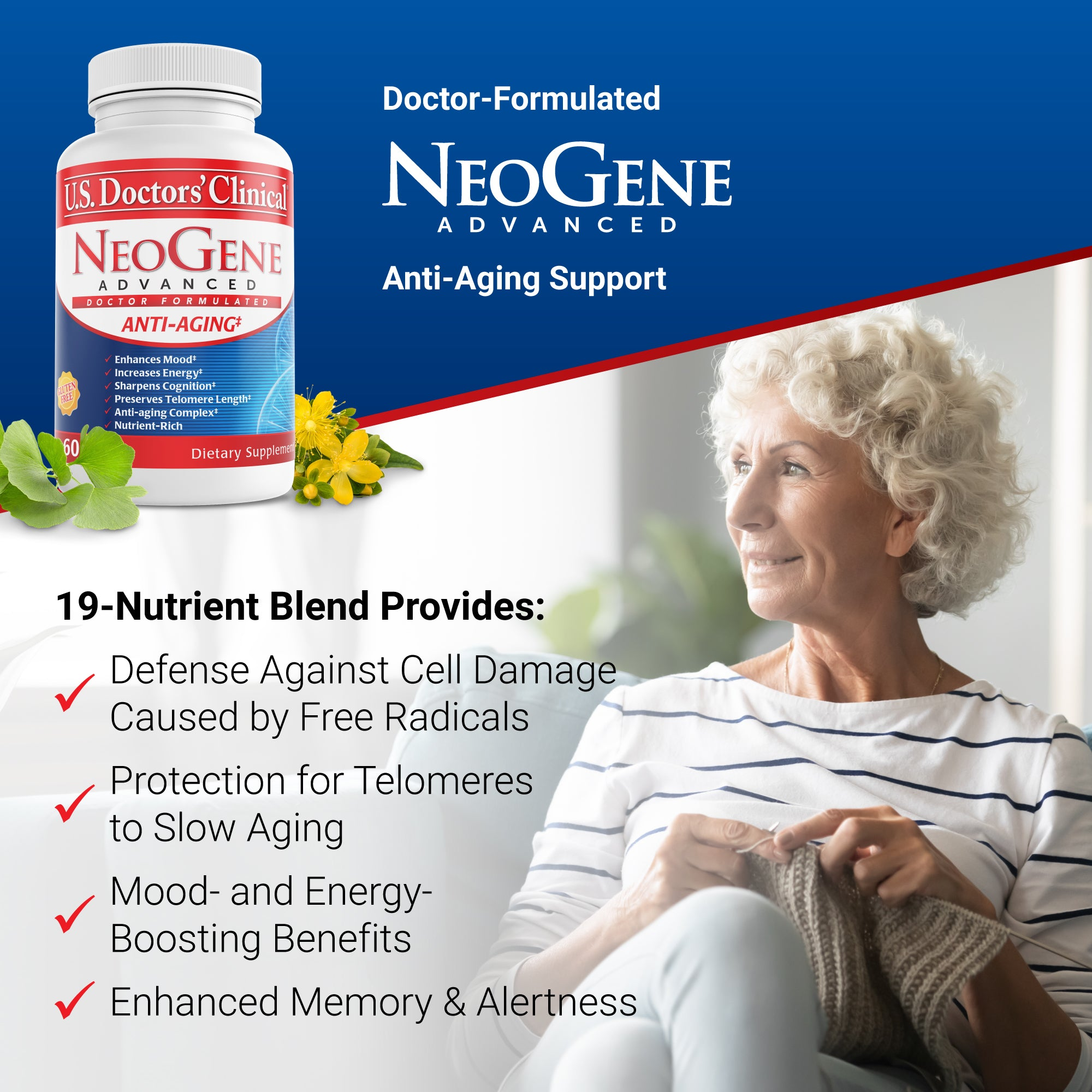 3-Pack - Neogene Advanced, 60 Tablets