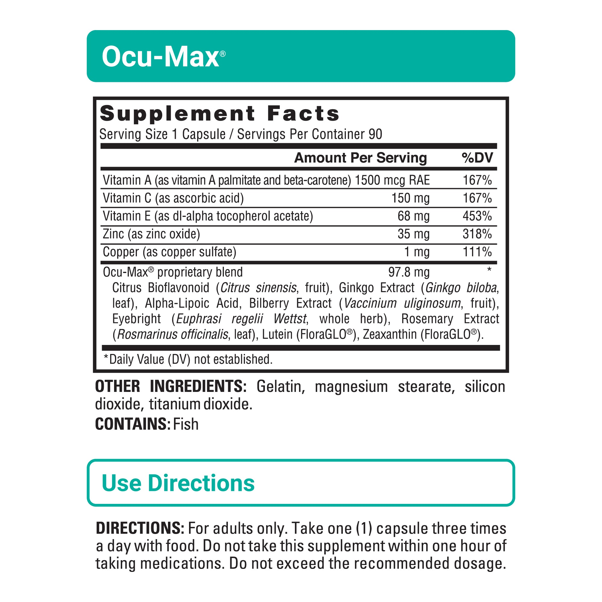 Ocu-Max sup facts