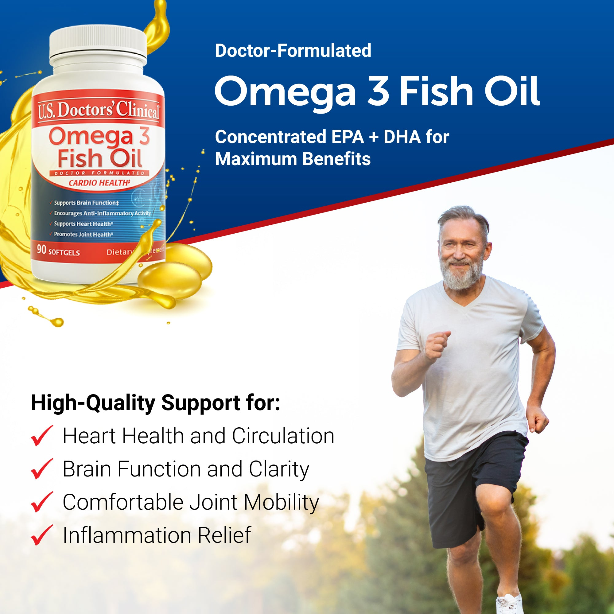 Omega 3 Fish Oil - 3 Pack