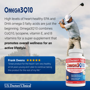 Omega3Q10 - Supercharged Fish Oil - 3 Pack