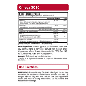 Omega3Q10 sup facts