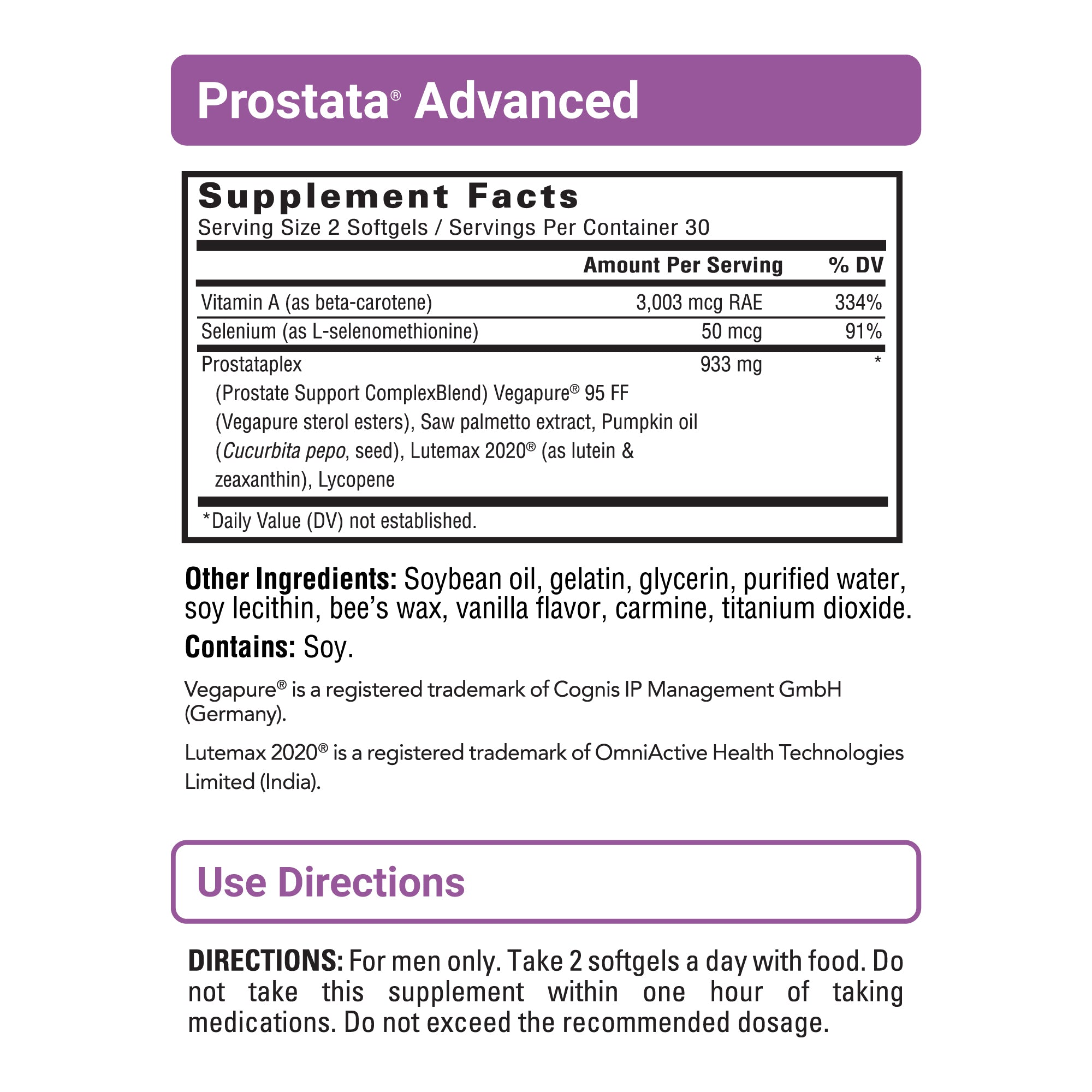 Prostata Advanced sup facts