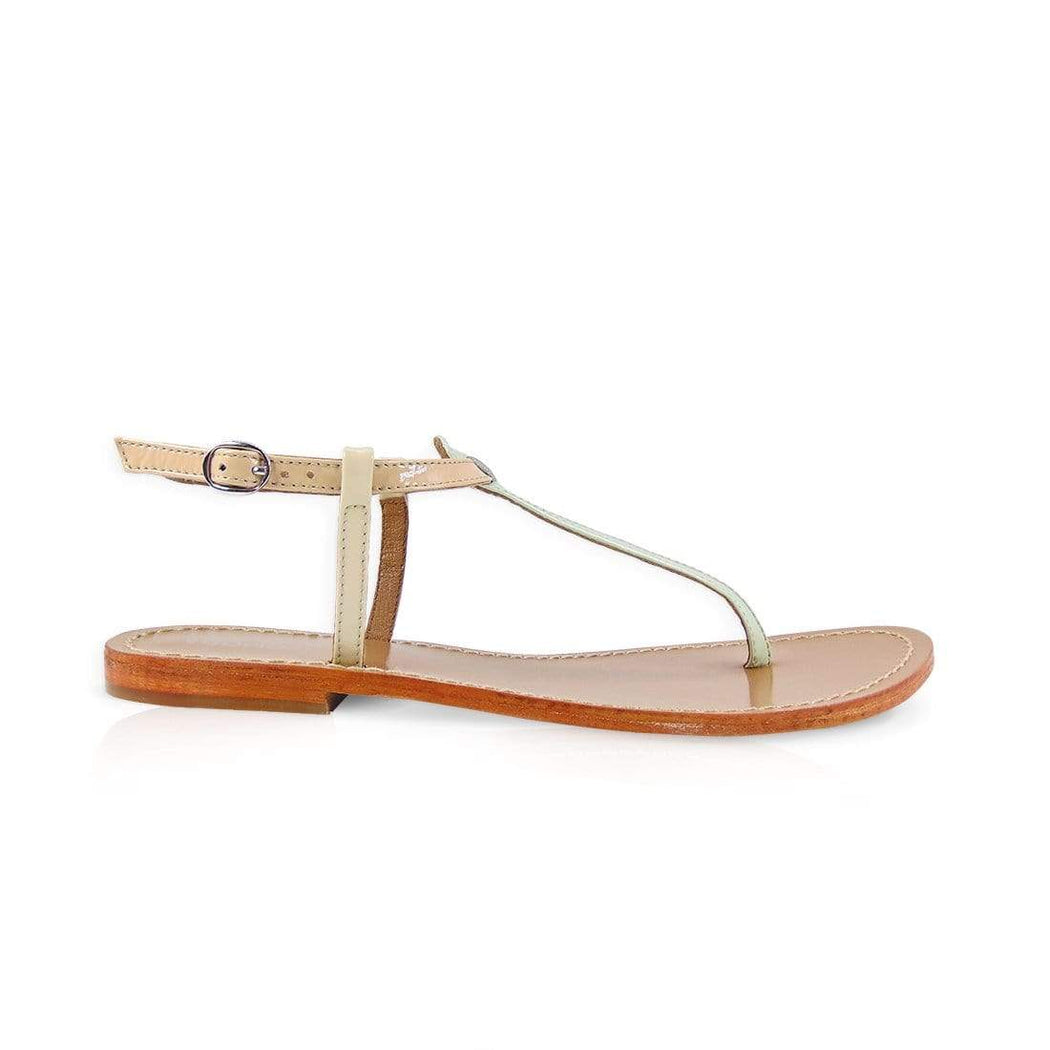 BETTY - Leather Flat Sandals - Womoda