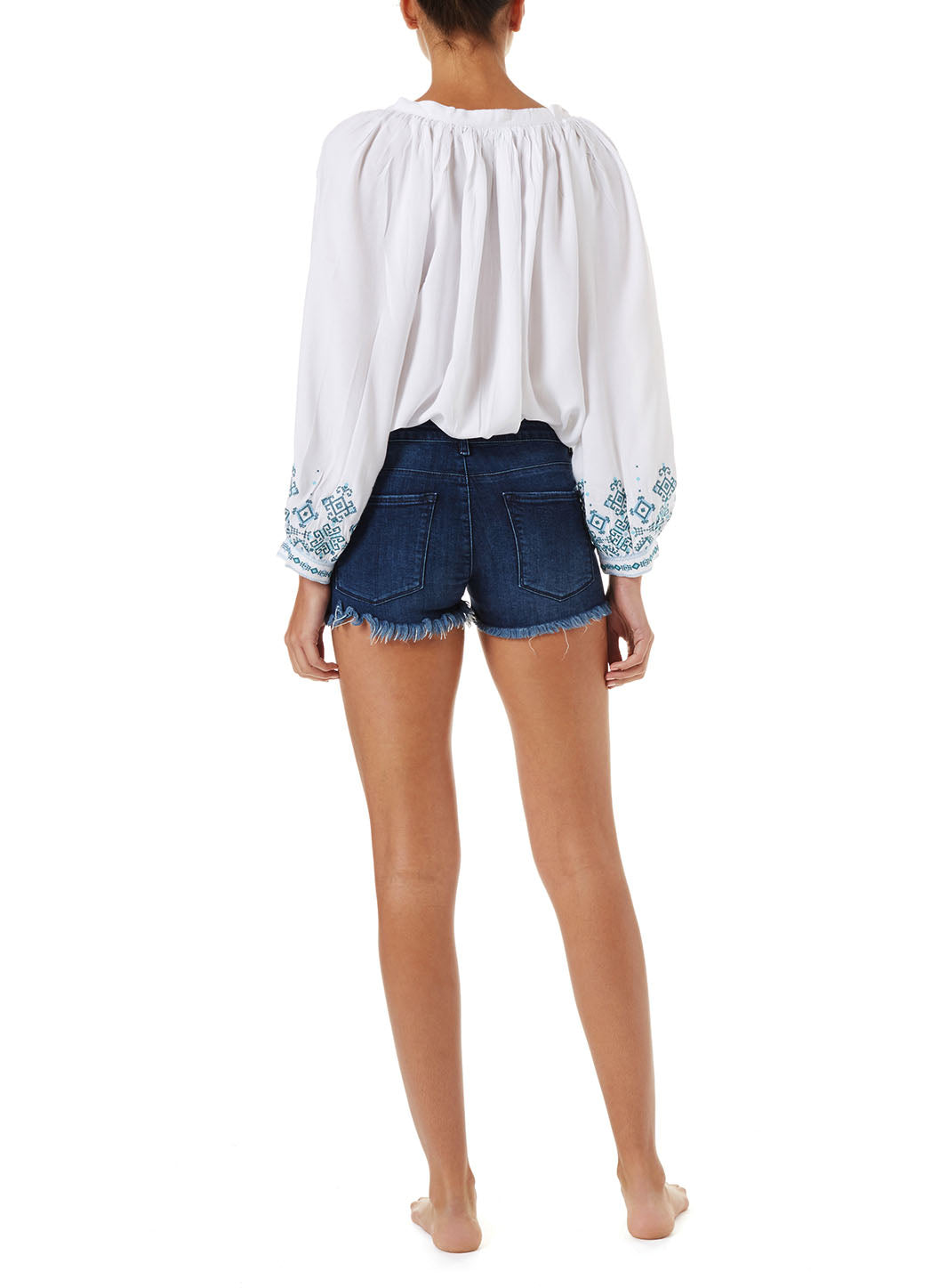 Alexi Denim Lace-Up Shorts