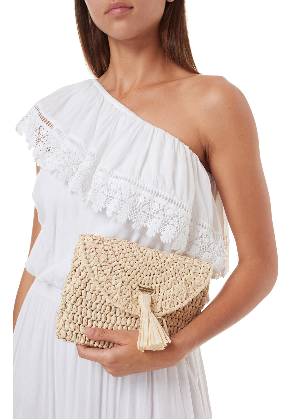 Anacapri Natural Raffia Clutch - Melissa Odabash Accessories