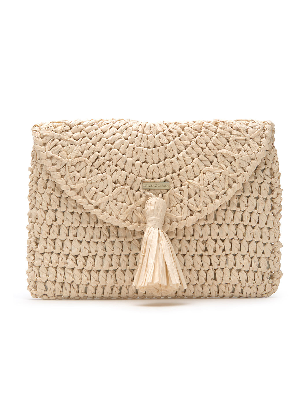 Anacapri Natural Raffia Clutch