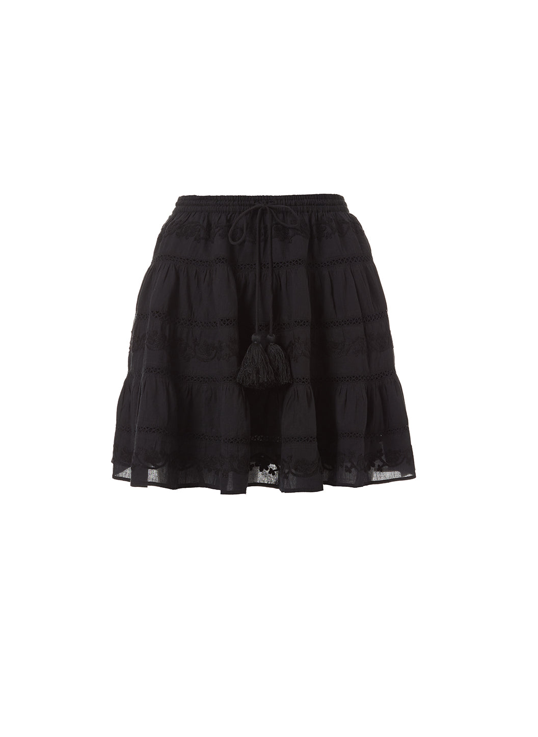 Anita Black Tassle Skirt