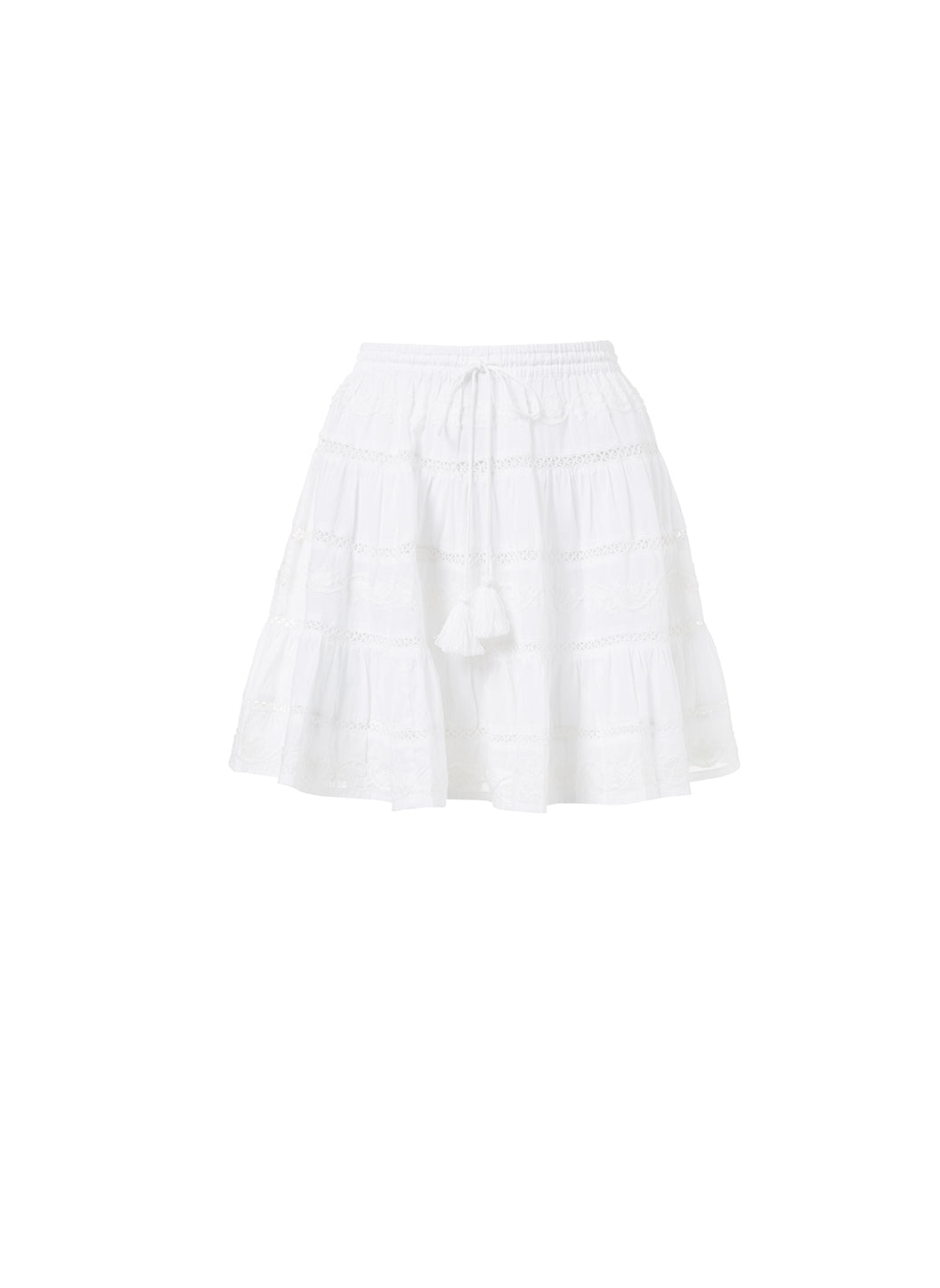 Anita White Tassle Skirt