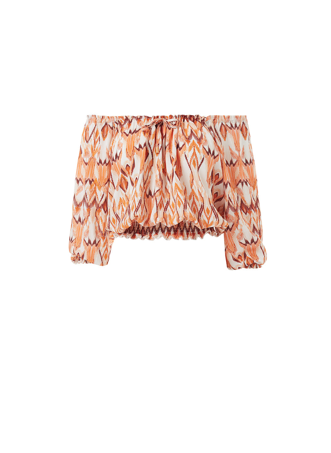 Anne Ikat Off The Shoulder Top - Melissa Odabash Tops & Bottoms