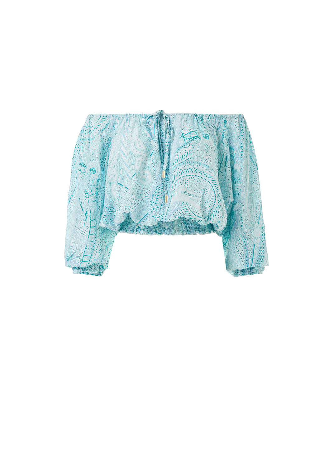 Anne Paisley Off The Shoulder Top  - Melissa Odabash Beachwear