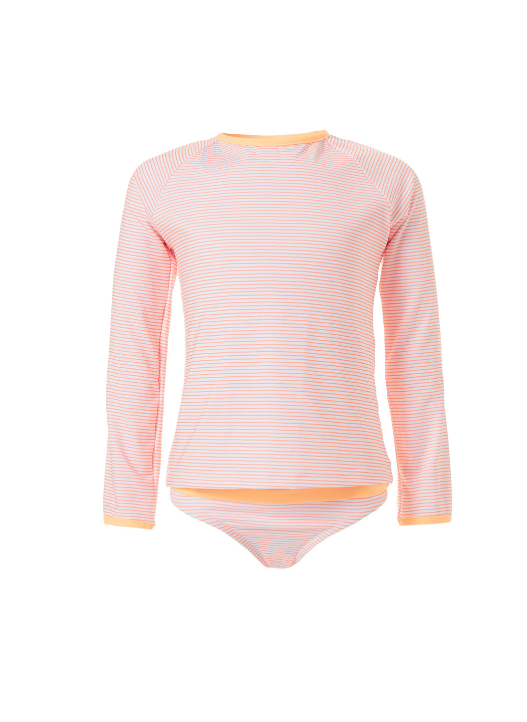 Baby Dakota Mango Stripe Rash Vest
