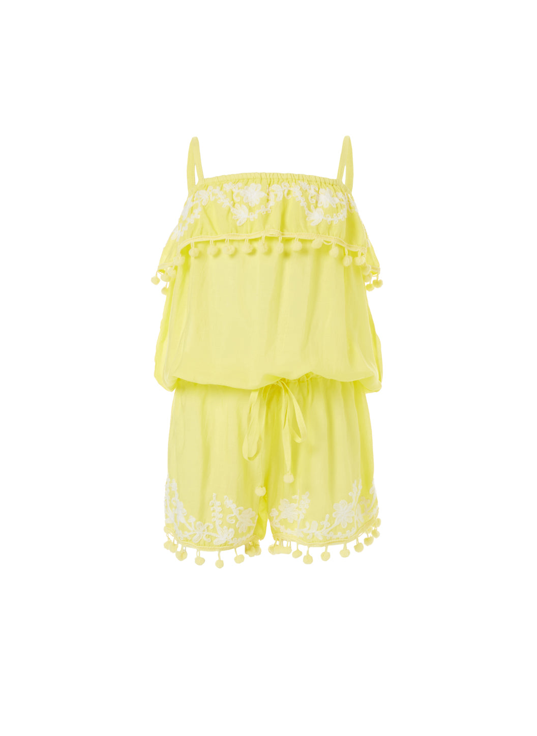 Baby Eisha Yellow/White Playsuit