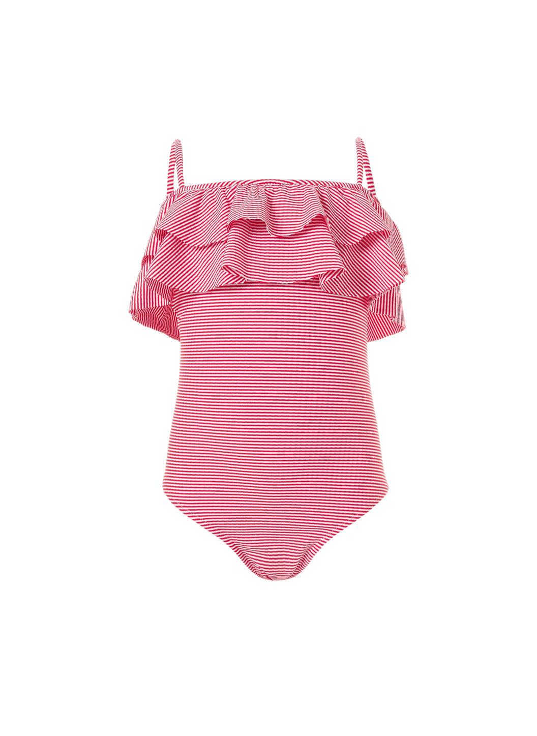 Baby Ivy Red Gingham Frill Onepiece Swimsuit