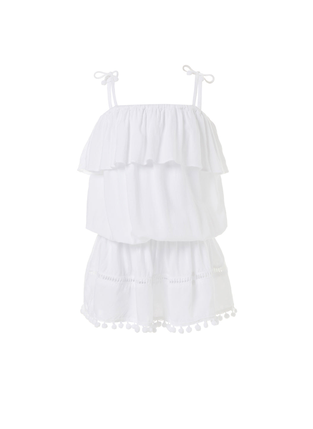 Baby Joy White Beach Dress - Melissa Odabash Kids Beach Dresses