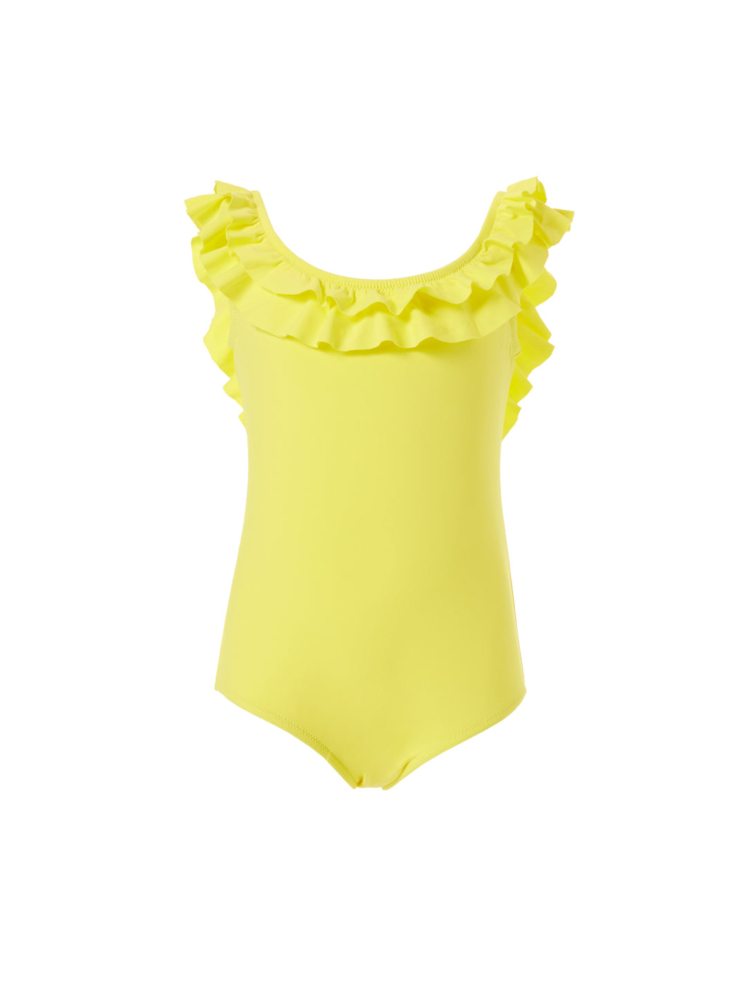 Baby Missy Yellow Over the Shoulder Frill Onepiece Swimsuit - Melissa Odabash Swimwear