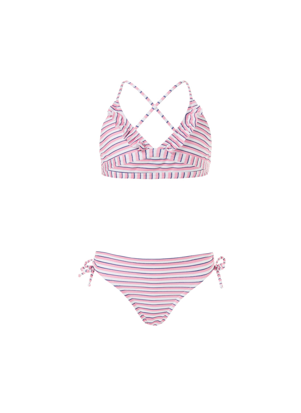 Baby New York Pink Stripe Triangle Bikini