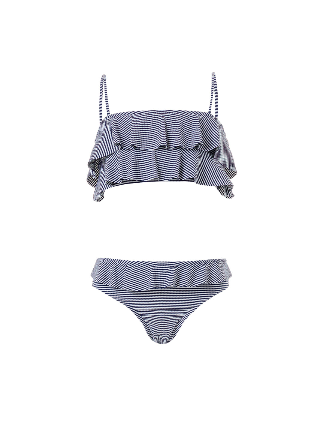 In gorgeous navy gingham, the Baby Noemie Navy Gingham Frill Bikini will be a favourite of your little one, with fun frill details! Order now!
