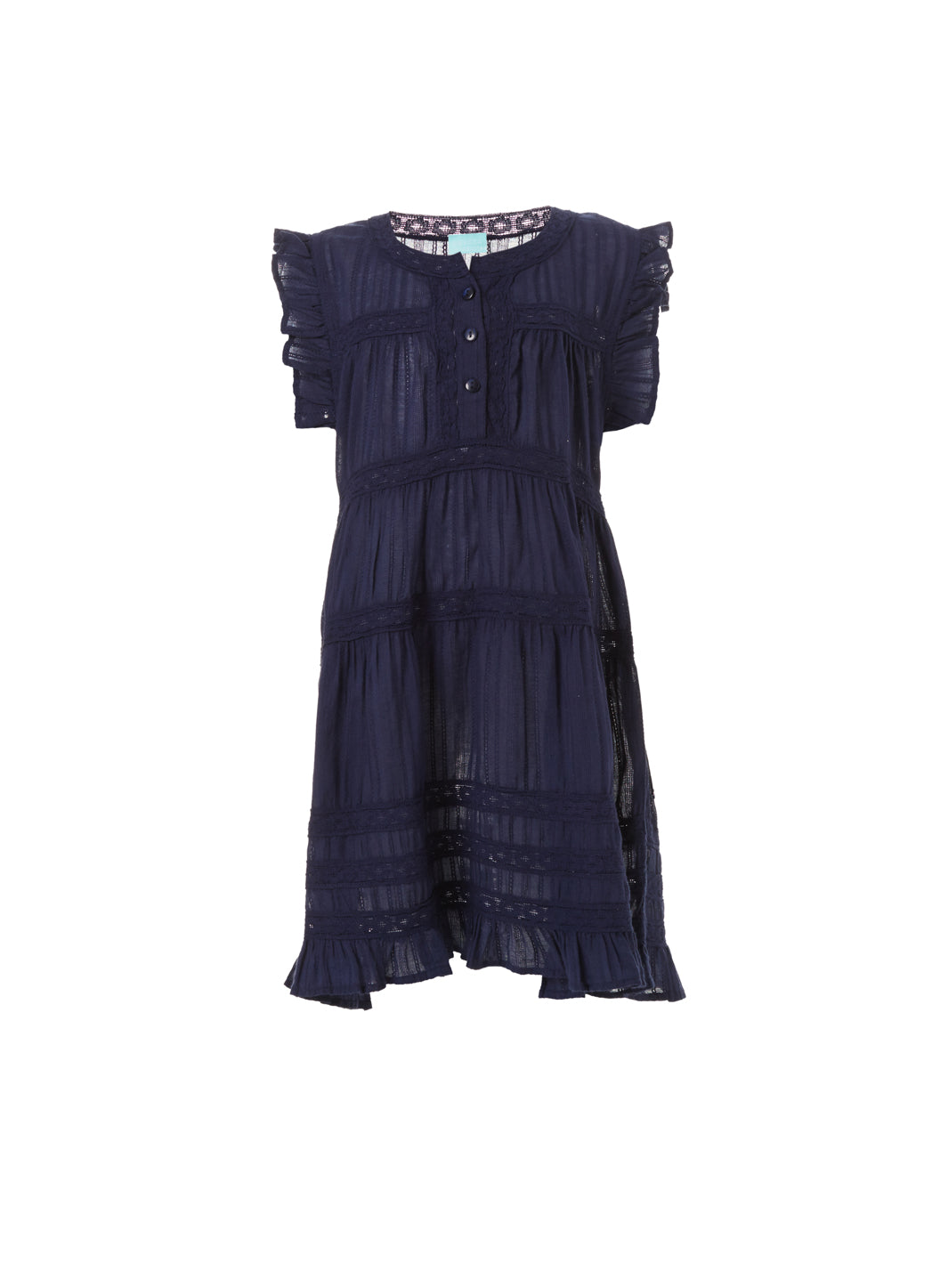 Baby Rebekah Navy Smock Dress