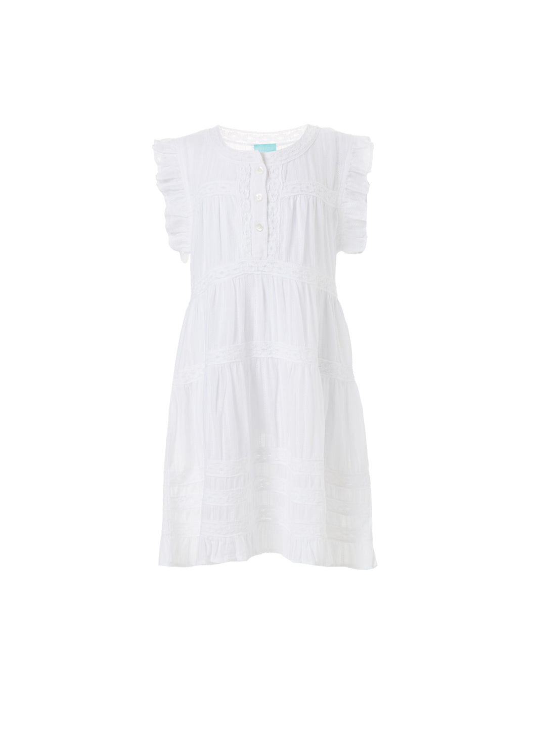 Baby Rebekah White Smock Dress