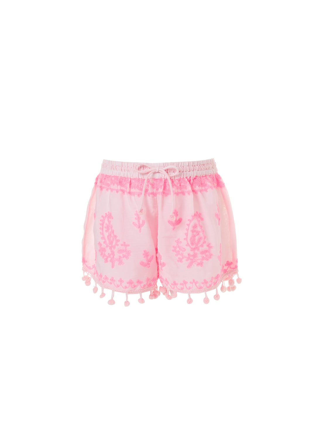 Baby Shorts Pale Pink/Neon