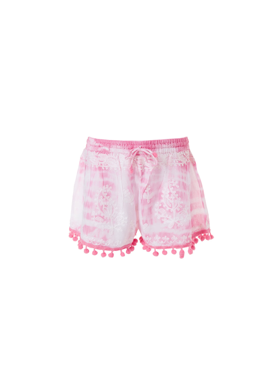 Baby Shorts Pale Pink Tie Dye