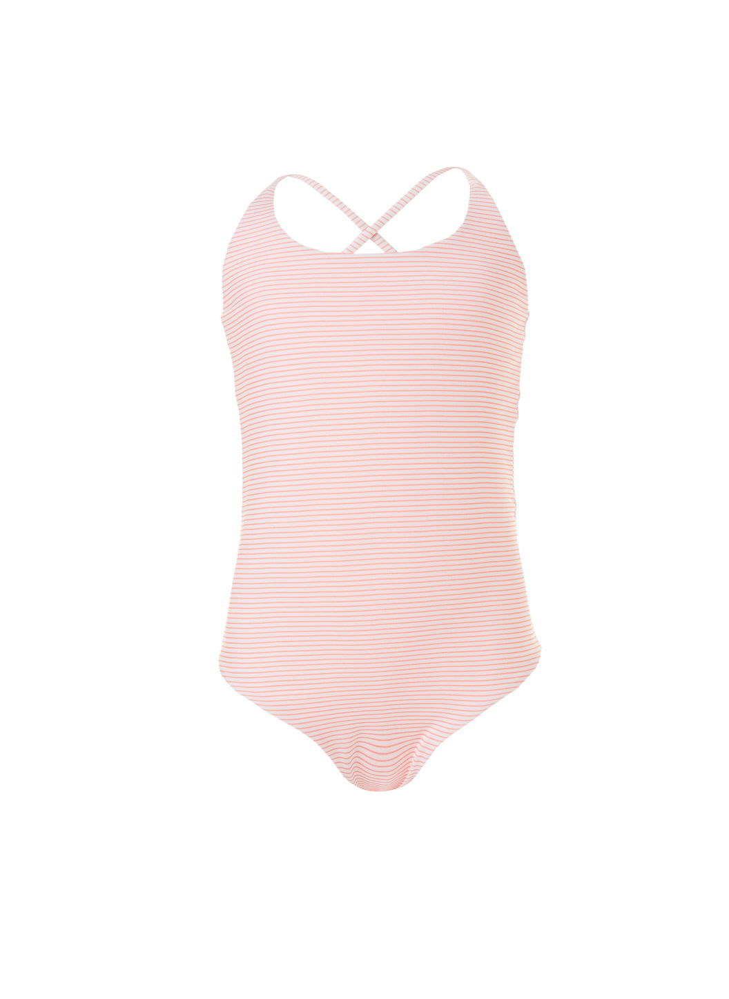 Baby Vicky Mango Stripe/Mango Cross-Back One Piece Swimsuit - Melissa Odabash Kids Swimsuits