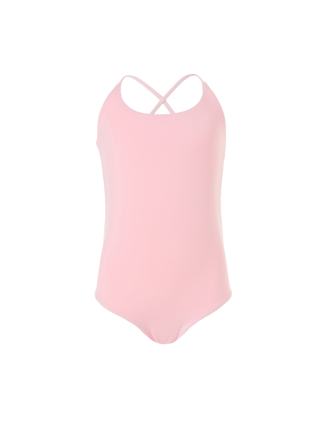 Baby Vicky Pale Pink /Neon Cross-Back One Piece Swimsuit