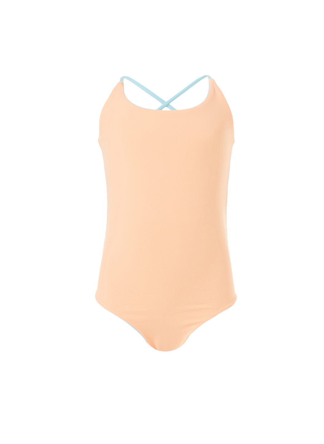 Baby Vicky Sky/Mango Cross-Back One Piece Swimsuit