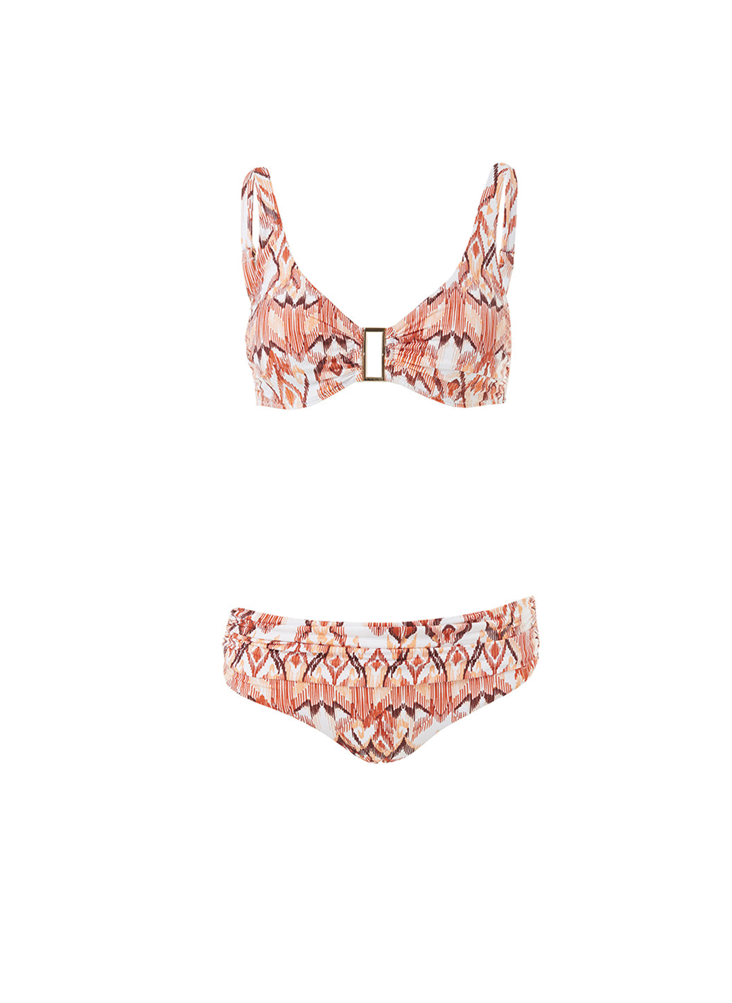 Belair Ikat Over The Shoulder Supportive Bikini  - Melissa Odabash Swimwear