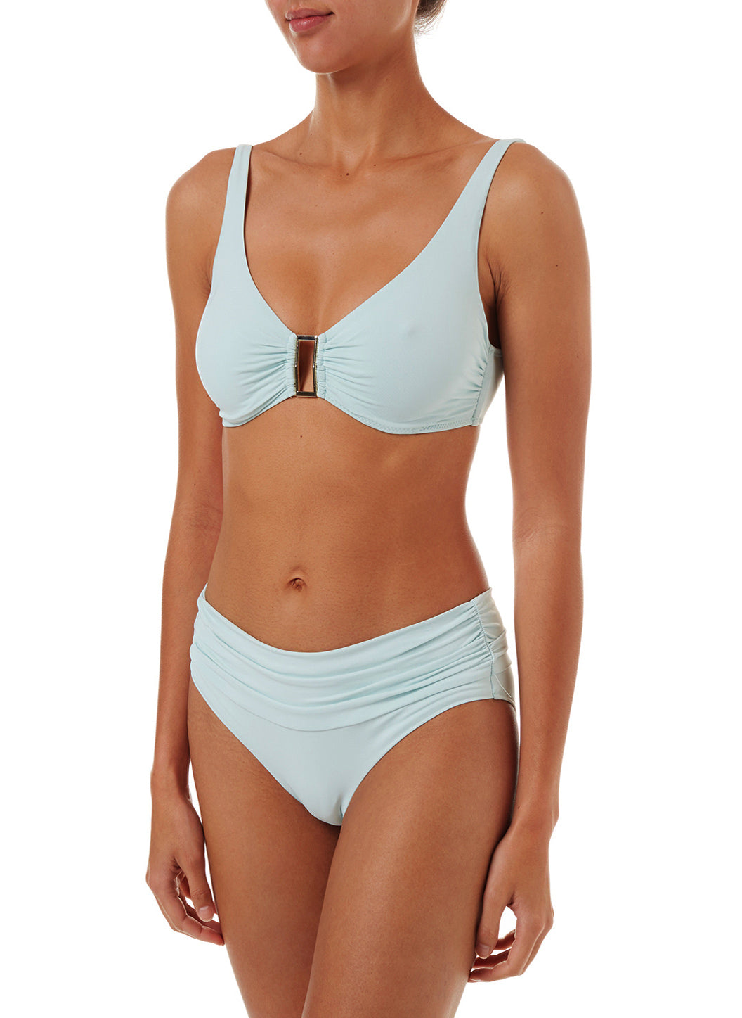 Belair Mint Over The Shoulder Supportive Bikini