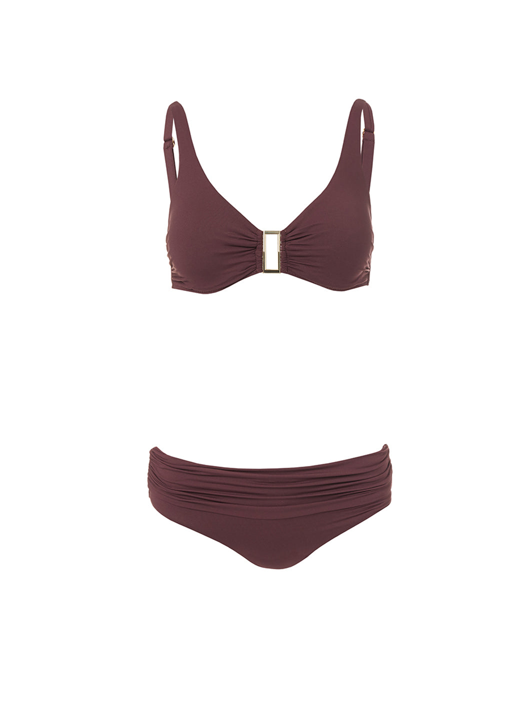 Belair Walnut Over The Shoulder Supportive Bikini - Melissa Odabash Swimwear