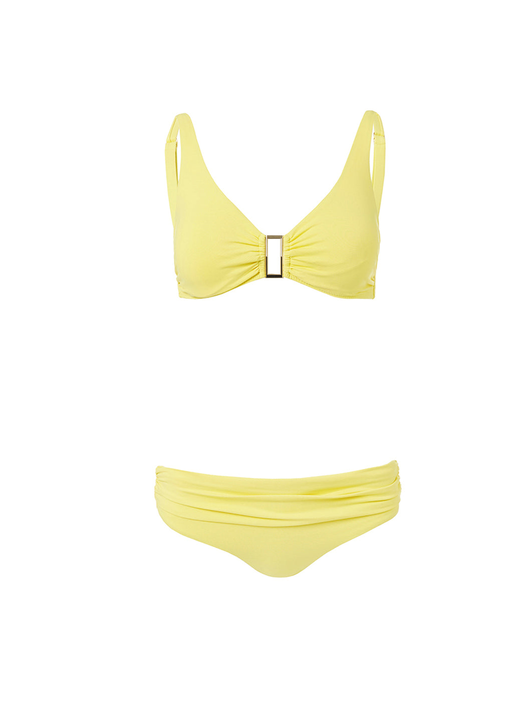 Belair Yellow Over The Shoulder Supportive Bikini  - Melissa Odabash Swimwear