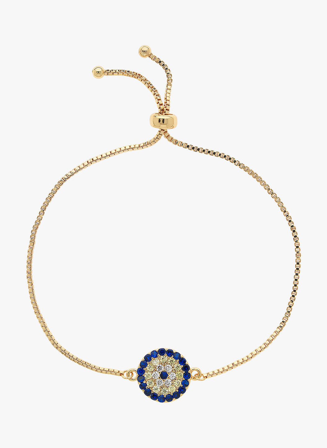 Gold Evil Eye Adjule Bracelet
