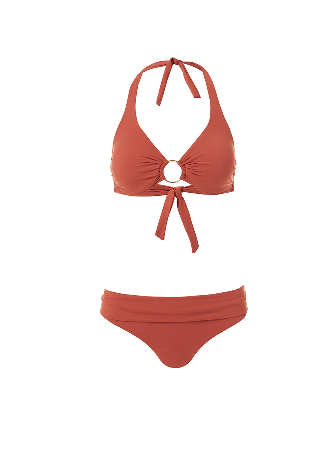 Brussels Cinnamon Halterneck Ring Supportive Bikini