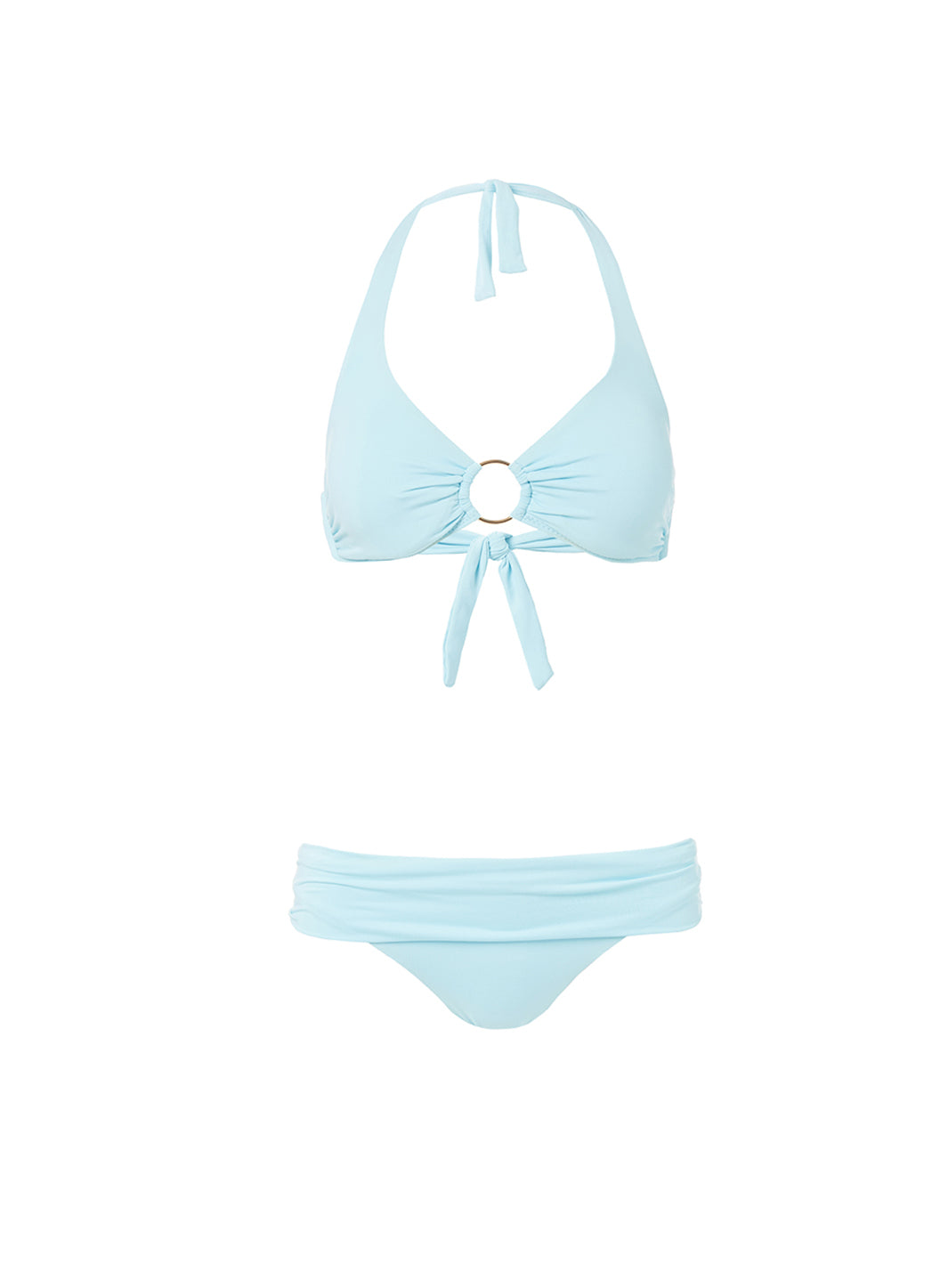 Brussels Sky Halterneck Ring Supportive Bikini