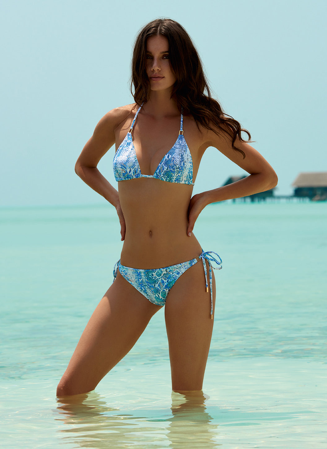 Cancun Serpente Classic Triangle Bikini - Melissa Odabash Swimwear