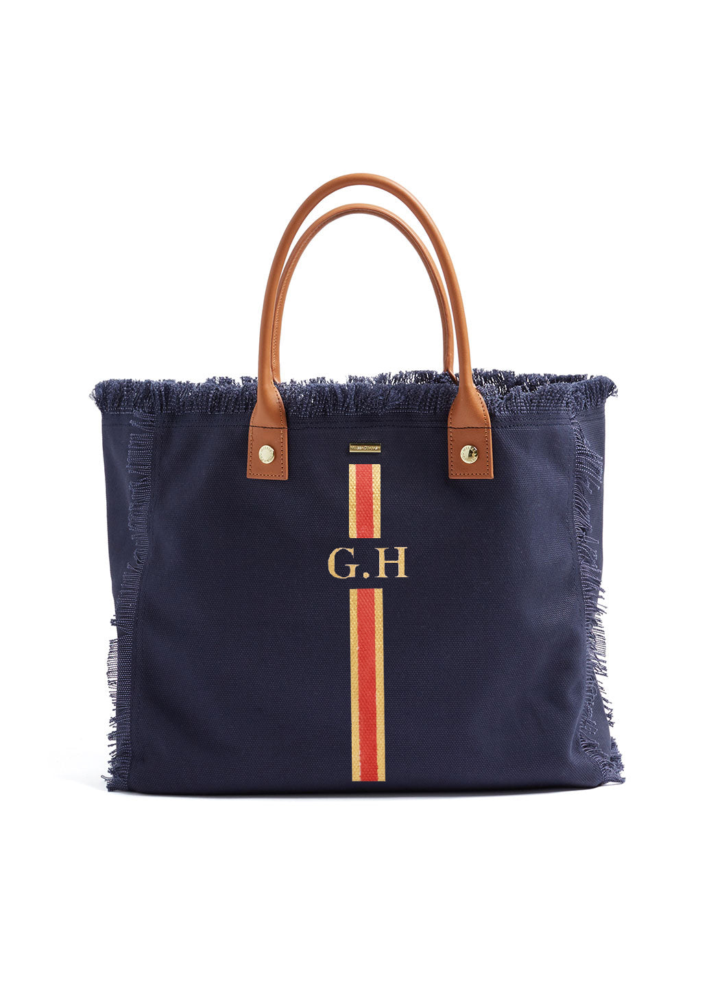 Cap Ferrat Large Beach Tote Navy - Melissa Odabash Personalised Bags