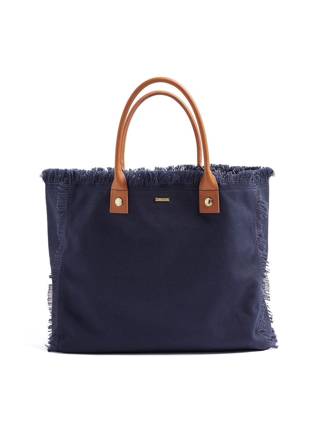 Personalized Cap Ferrat Large Beach Tote Navy
