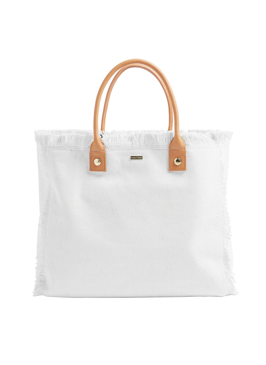 Personalized Cap Ferrat Large Beach Tote White