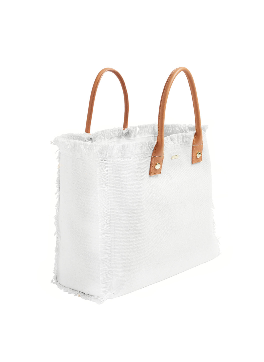 Cap Ferrat Large Beach Tote White - Melissa Odabash Accessories