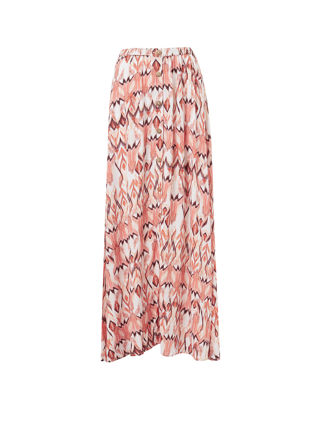 Daisy Ikat Button-Down Maxi Skirt - Melissa Odabash Beachwear